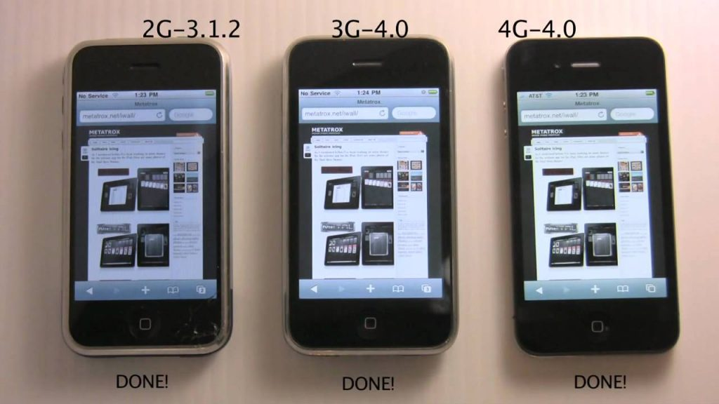 iPhone Comparison – 4G vs 3G vs 2G