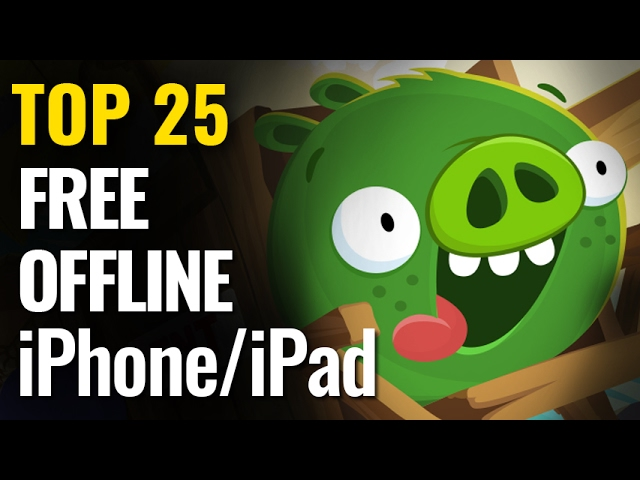 Top 25 FREE OFFLINE iPhone & iPad Games  | No internet required