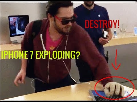GUY DESTROYS IPHONES, IPHONE 7 EXPLODING AND WASHING MACHINES!!!