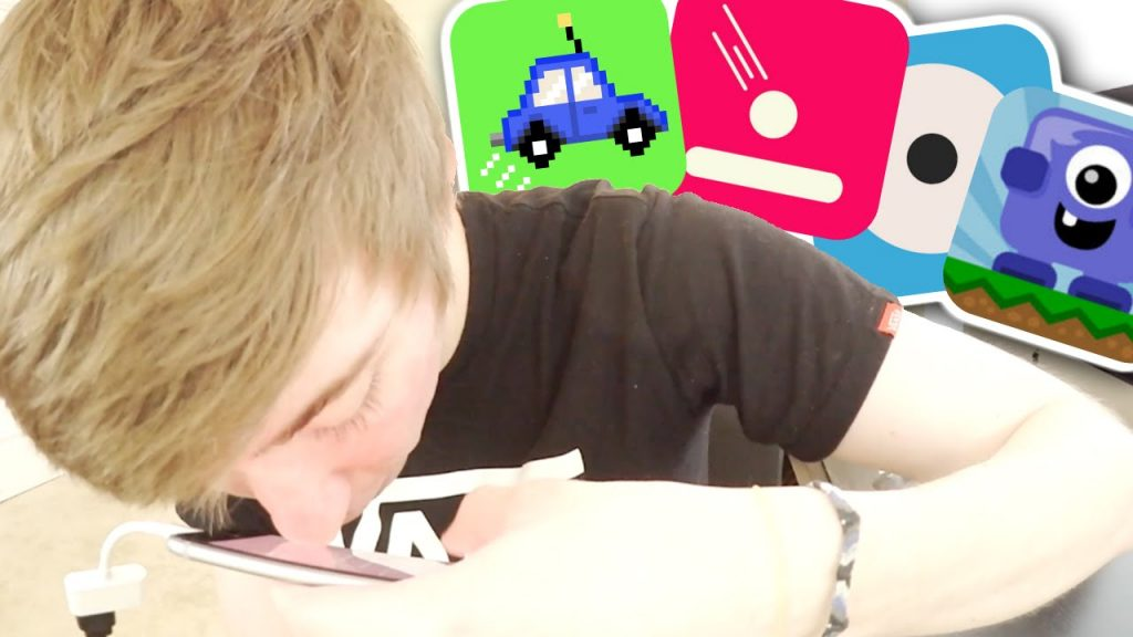 ONE HANDED iPHONE GAMES (Jump Car / Jump / Circle Pong! / Sir Flips A Lot)