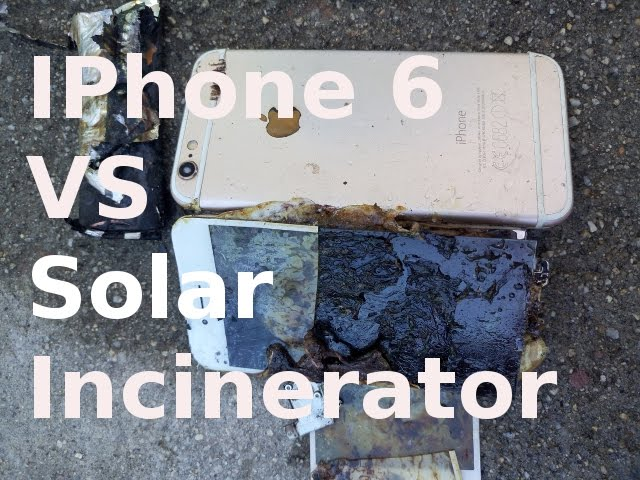 IPhone 6 explosion – See IPhone 6 burned by Solar Incinerator