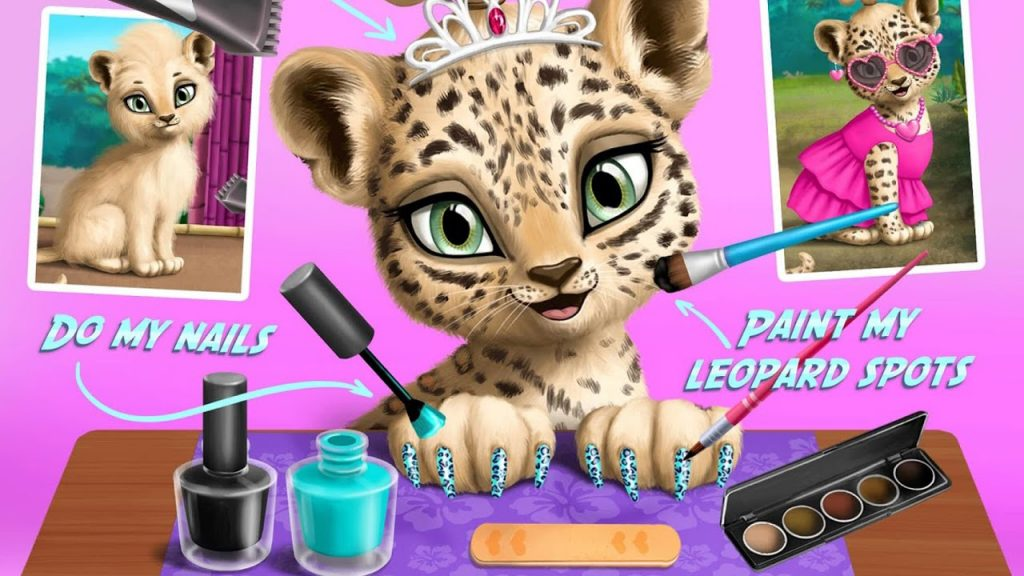 Baby Jungle Animal Hair Salon (TutoTOONS) – Game App For Kids – iPhone / iPad