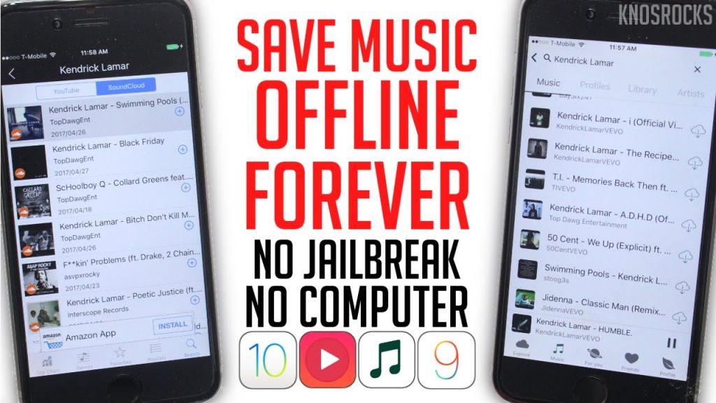 How To Download Music & Listen Offline iOS 11 – 10.3.3 / 9 Free No Jailbreak / PC iPhone iPod iPad