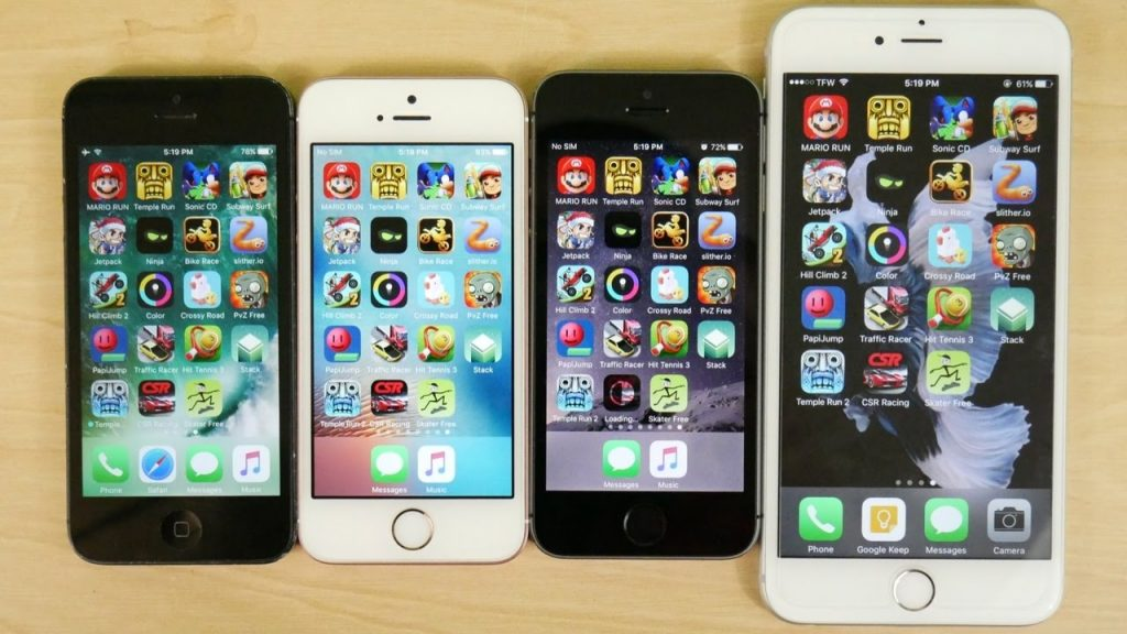iPhone 5 vs iPhone 5S vs iPhone SE vs iPhone 6s (Gaming)