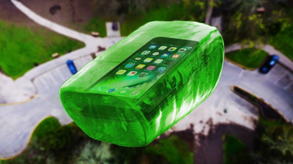 Can World's Largest Jolly Rancher Protect iPhone 7 from 100 FT Drop Test? – GizmoSlip