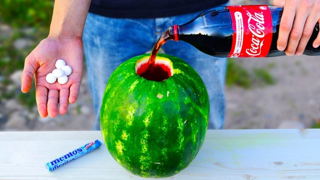 What if to Explode Mentos & Coca-Cola in Watermelon