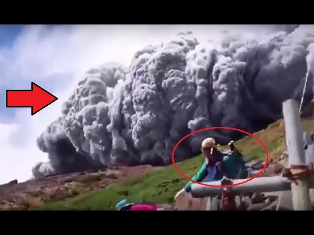 Danger Pyroclastic Flows/Volcano Explosion/Lava Flows – montage