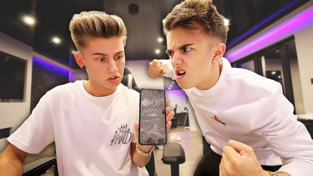 I smashed Jake Mitchell's iPhone 7 PLUS… (he got mad)