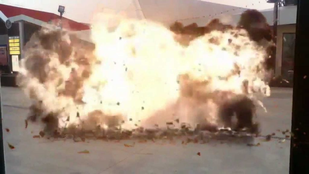 """Subway Explosion filmed with """"Action Movie FX"""" app for iPhone/IPod"""