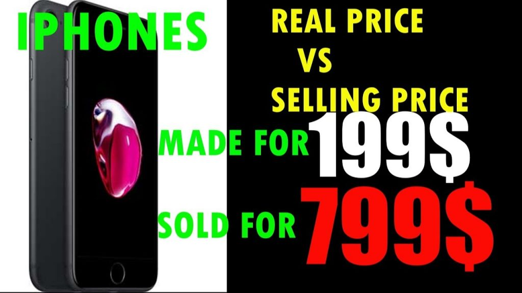 REAL PRICE VS PRODUCTION COST FOR IPHONES