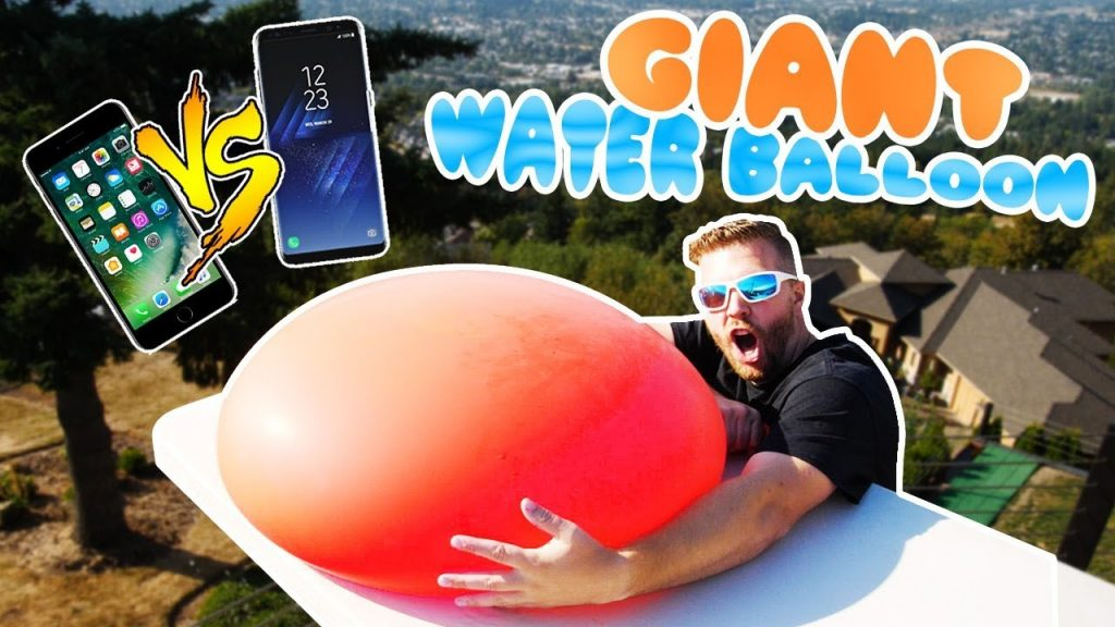 Drop Testing GIANT 6FT Water Balloon w/ Galaxy S8 and iPhone 7 inside!!!