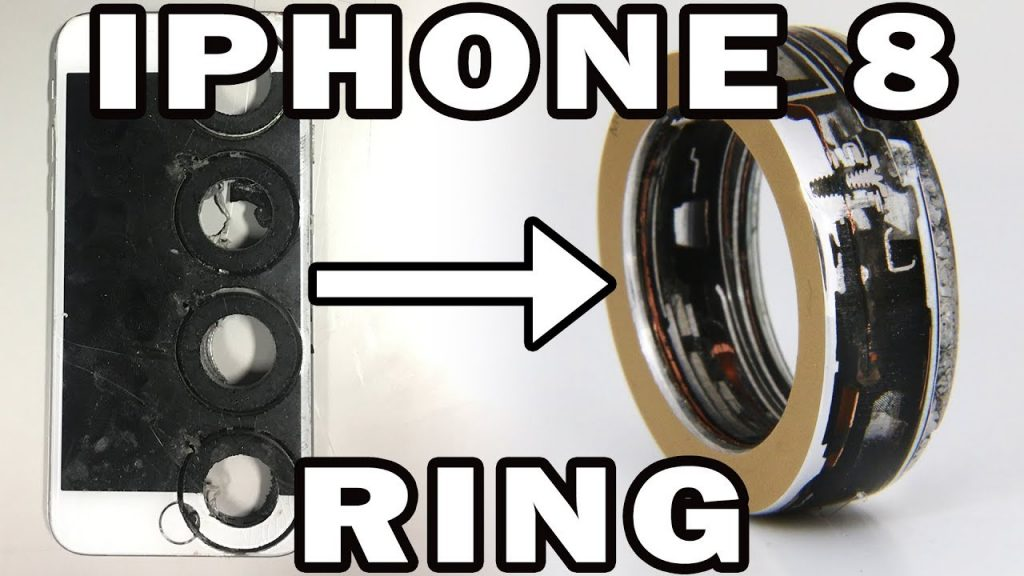 iPhone 8 Turned into a Ring with a 60,000 psi Waterjet