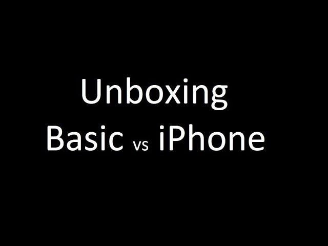 Unboxing   Iphone x Basic phone