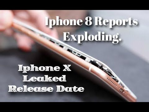 Leaked iPhone 8 Explodes in charge mode