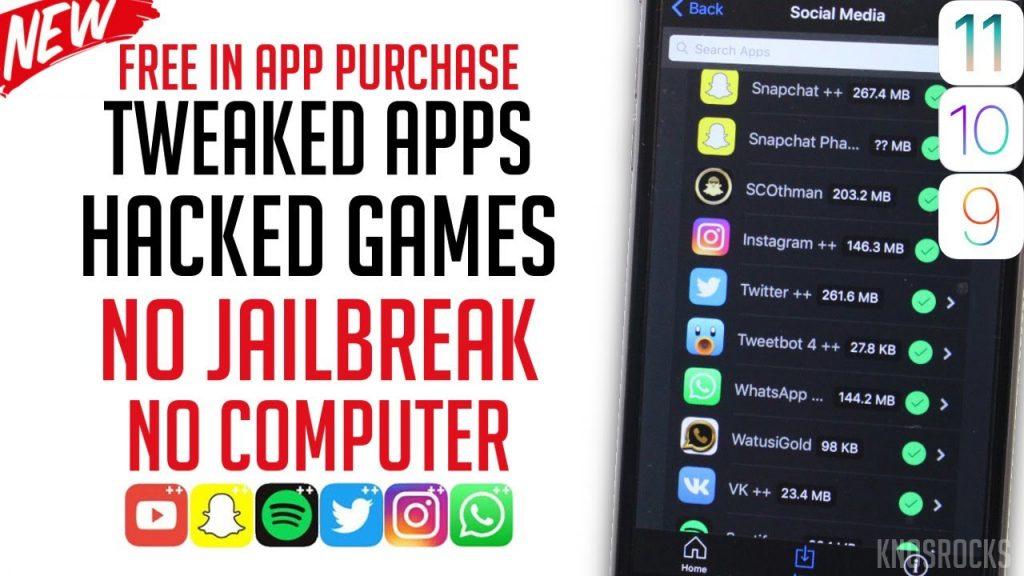Get Tweaked, Hacked & ++ Apps / Games Free iOS 11 – 11.0.2 / 10 / 9 No Jailbreak / PC iPhone iPad