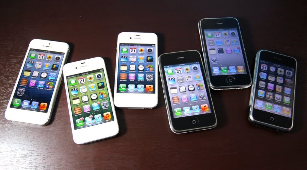 iPhone 5 VS iPhone 4S VS iPhone 4 VS iPhone 3Gs VS iPhone 3G VS iPhone 2G Comparison Test