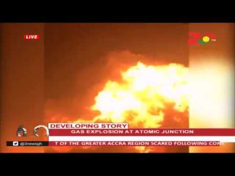 GAS (Huge) Explosion At Atomic Junction Accra