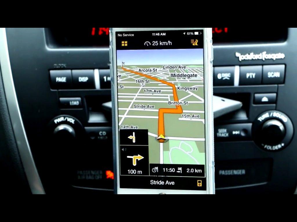 iPhone 6 Plus – Navigon GPS App for the Apple Smartphones