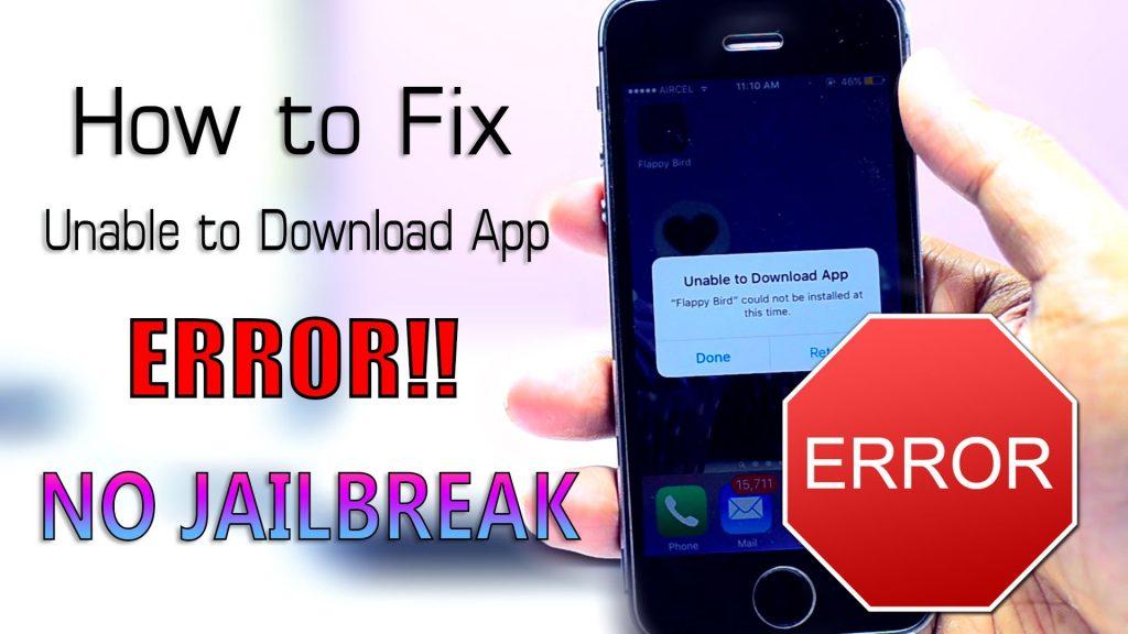"""How to Fix """"Unable to Download App"""" ERROR!! (NO JAILBREAK) iOS 9 – 9.3.1"""