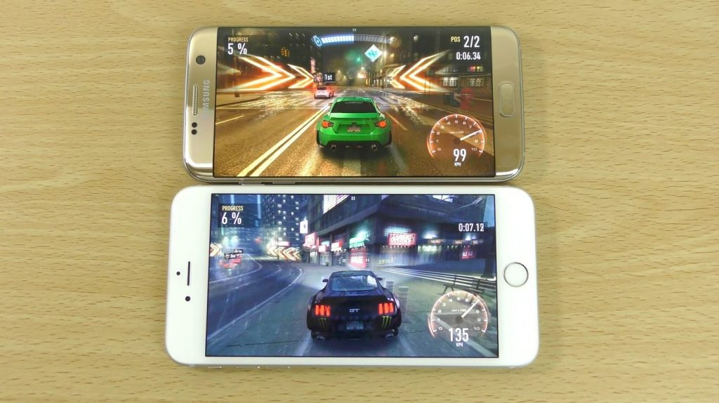 Samsung Galaxy S7 Edge vs iPhone 6S Plus – Gaming Comparison!