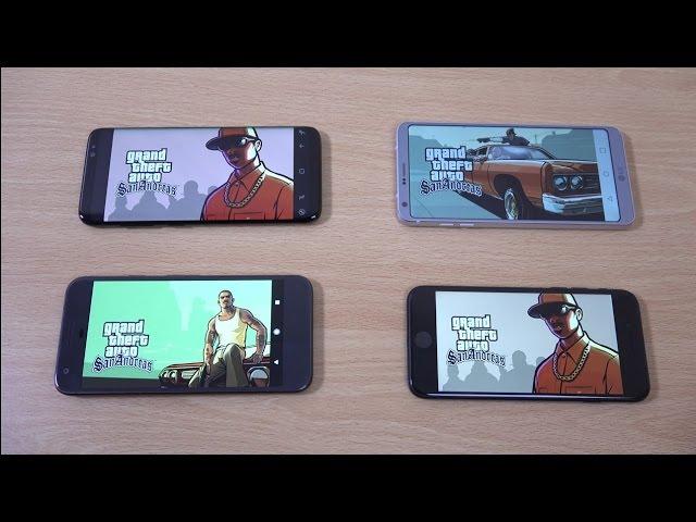 Samsung Galaxy S8 vs LG G6 vs iPhone 7 vs Google Pixel – Gaming Comparison!