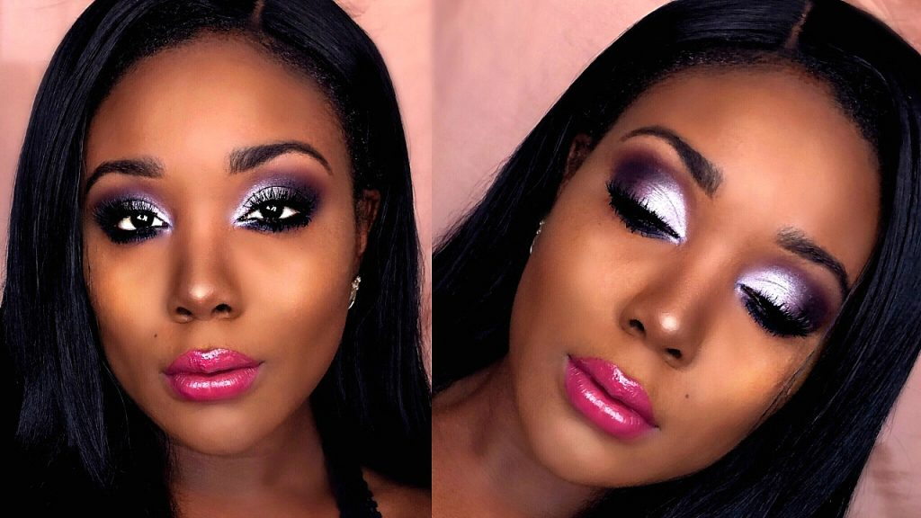 Affordable Drugstore Makeup Tutorial For Dark Skin 2017 | Sultry Purple Smokey Eye
