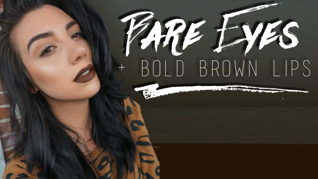 Bare Eyes & Bold Brown Lip Makeup Tutorial | QuinnFace