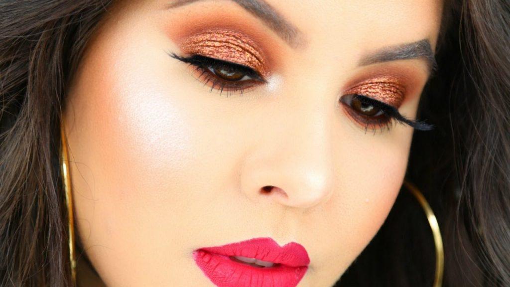 Red Coppery Bronzey Smokey Eye Makeup Tutorial | Nelly Toledo