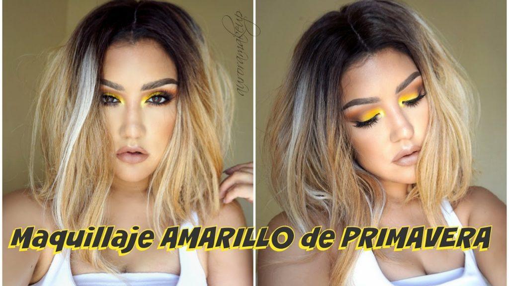 Maquillaje de PRIMAVERA en AMARILLO / YELLOW smokey eye makeup tutorial  auroramakeup
