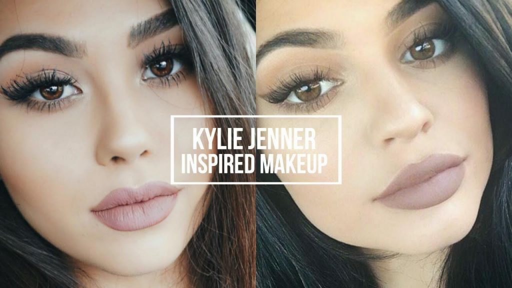 KYLIE JENNER INSPIRED MAKEUP TUTORIAL | Natural Smoky Eye + Classic Kylie Lip