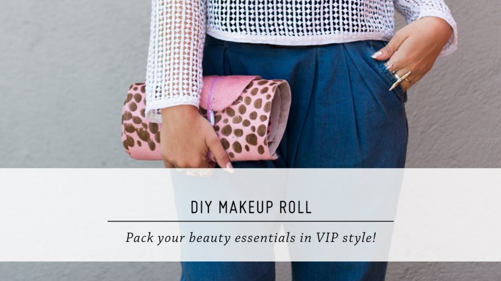 DIY Makeup Roll | Travel Accessory Tutorial | Mr Kate