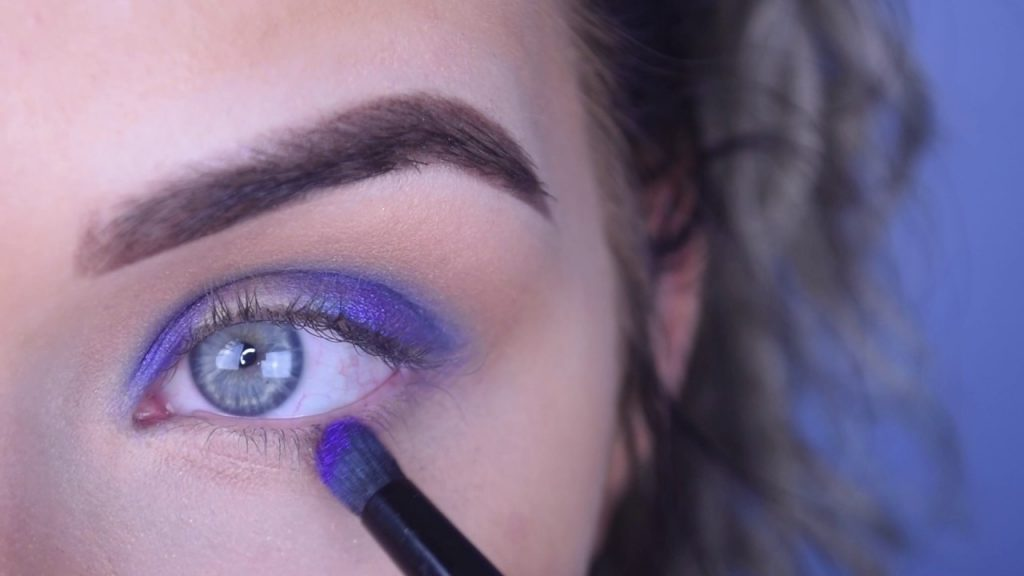 House of Beauty Eyeshadows | Purple Halo Eye Makeup