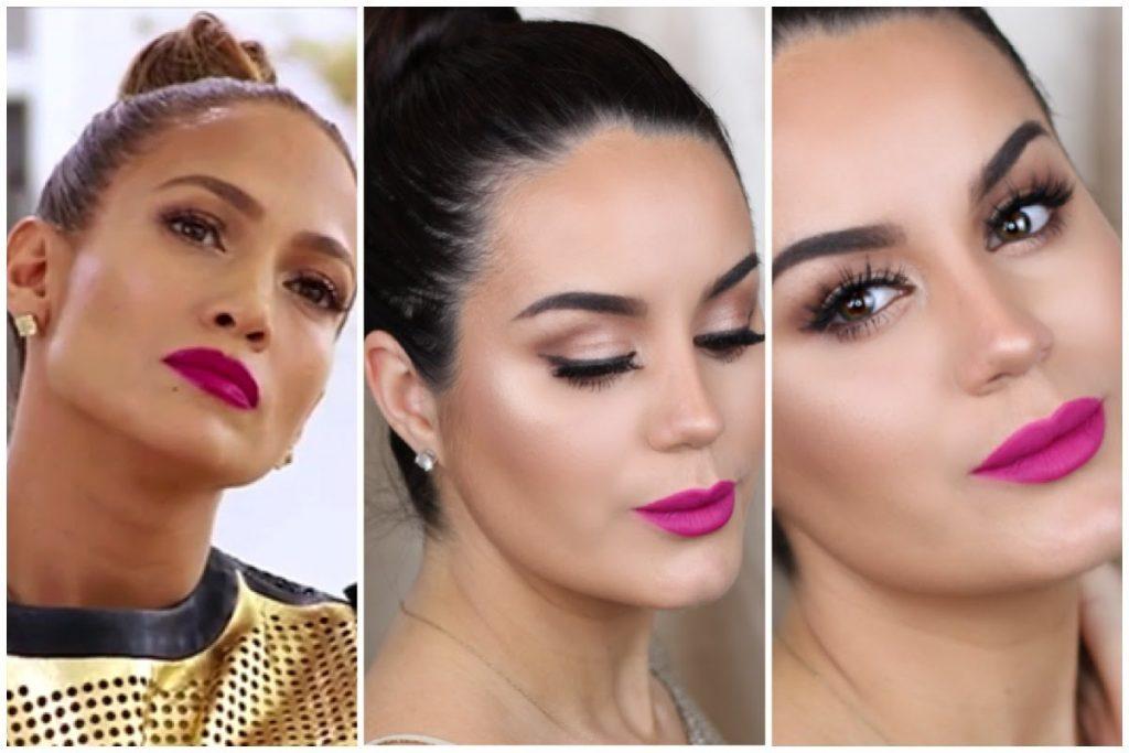 Jlo Inspired Bronze Makeup & Pink Lip Tutorial w/ Pink Lips ♡ MakeupByGio