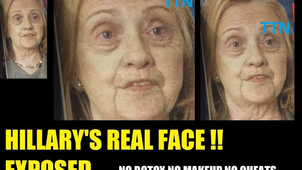 Hillary Clinton REAL bare face photo surfaces no makeup || The Mystery of Hillary's D Baby