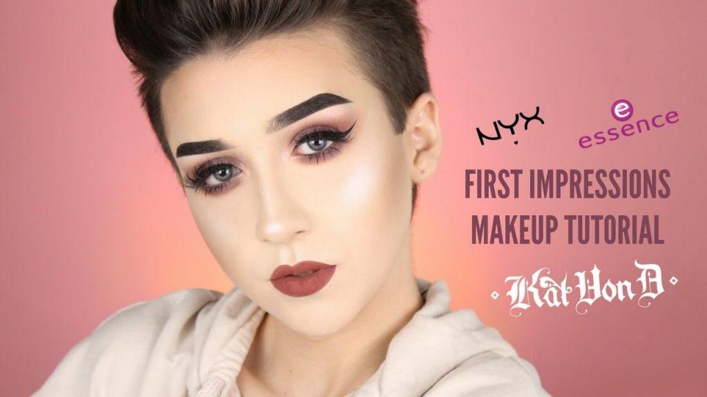 FIRST IMPRESSIONS Makeup Tutorial: NYX, KATVOND, ESSENCE (Full Face) || Damn Tee