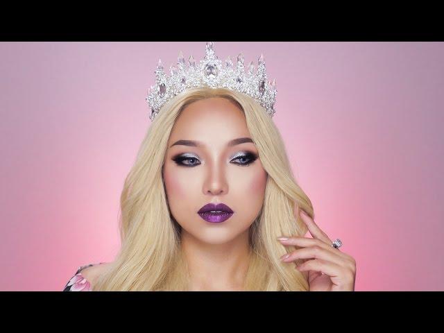 GRWM Crown + Metalic Lips + Blonde Wig | Makeup tutorial