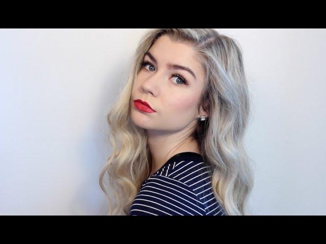 BRONZE EYE & RED LIP MAKEUP | Ashley Paige