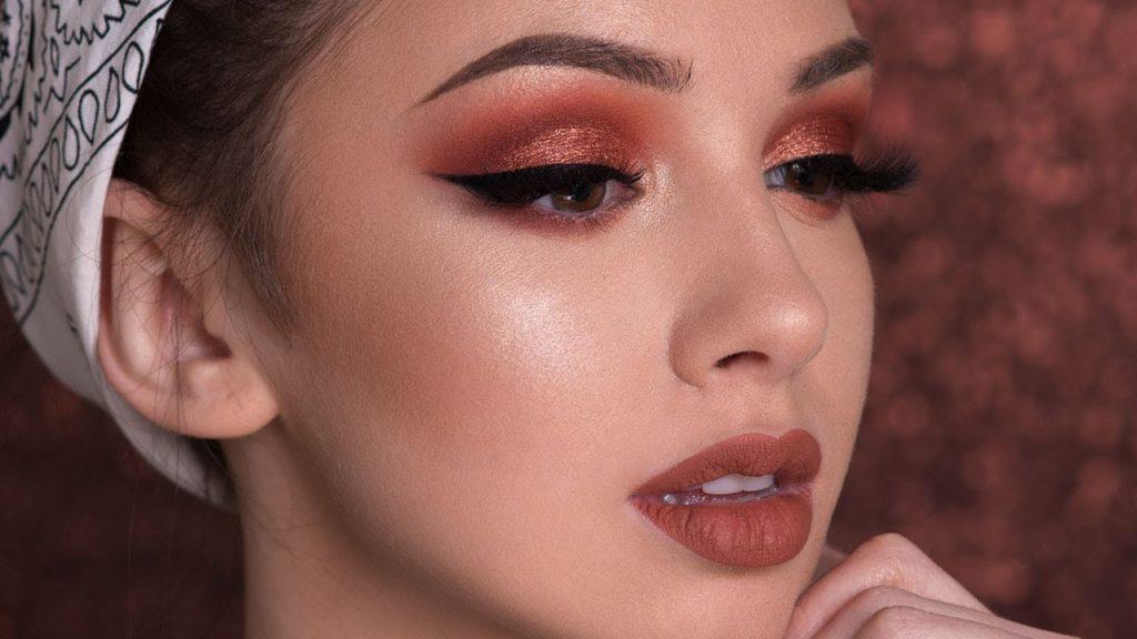Warm Shimmery Smokey Eye Makeup Tutorial