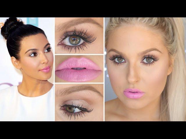 Kim Kardashian Inspired Spring Makeup! ♡ Lash & Lip Focus