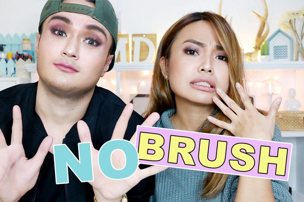 NO BRUSH Make Up Challenge (KAMAY Lang HAHAHAH!!)