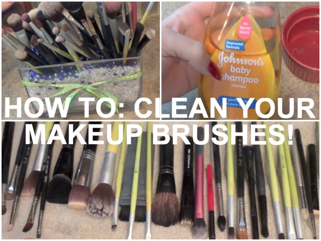 HOW TO: CLEAN YOUR MAKEUP BRUSHES WITH BABY SHAMPOO!