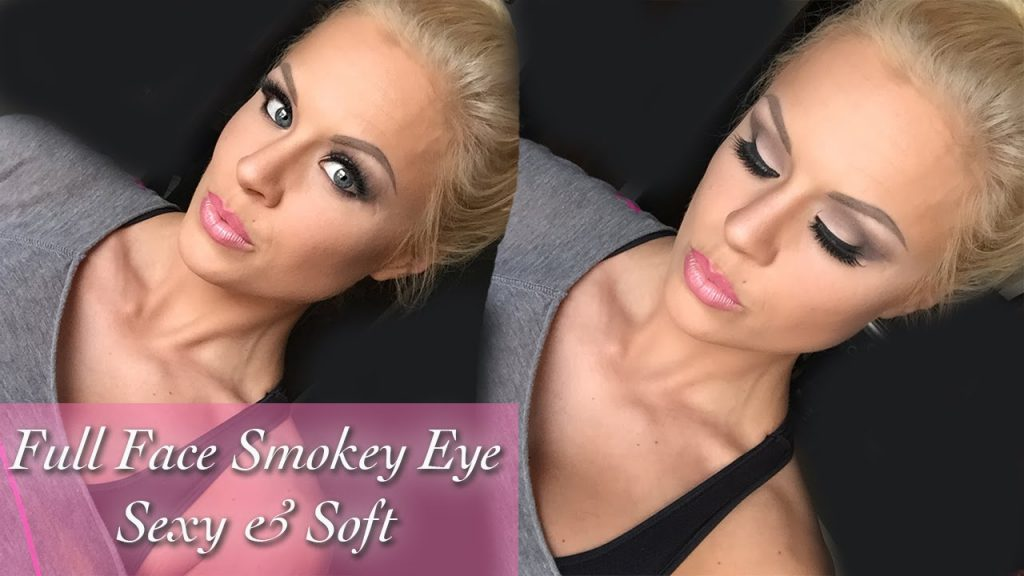 Full Face Makeup Brown Smokey Eye – Sexy and Soft