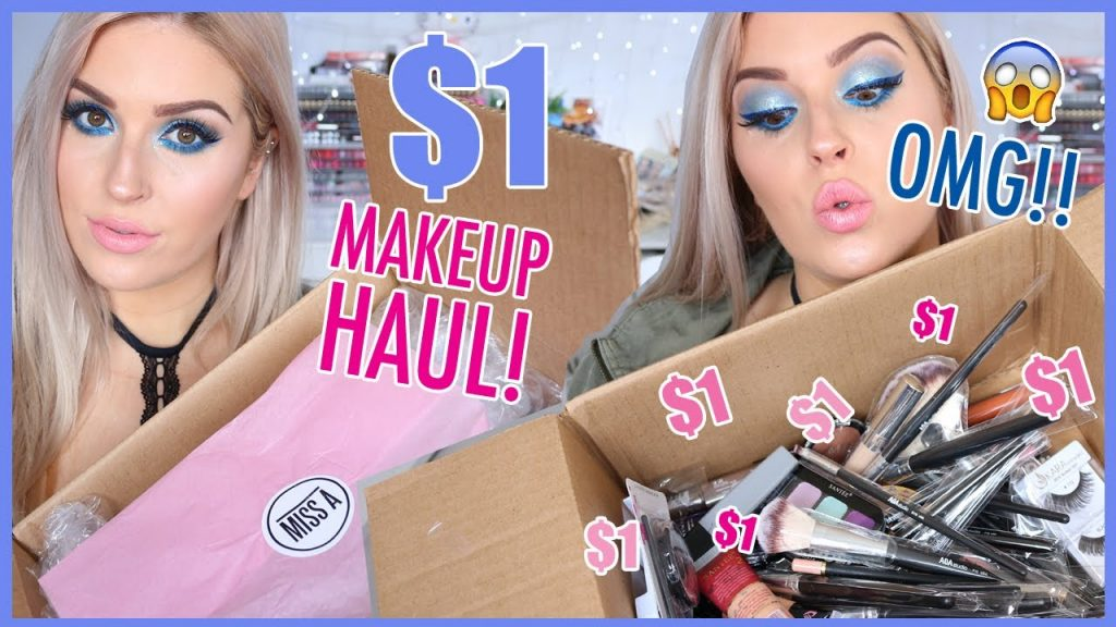 $1 MAKEUP HAUL! 💦 ShopMissA Swatches & FIRST IMPRESSIONS! 😍💕