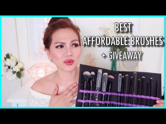 Affordable Makeup Brushes🌞Review + GIVEAWAY (International)