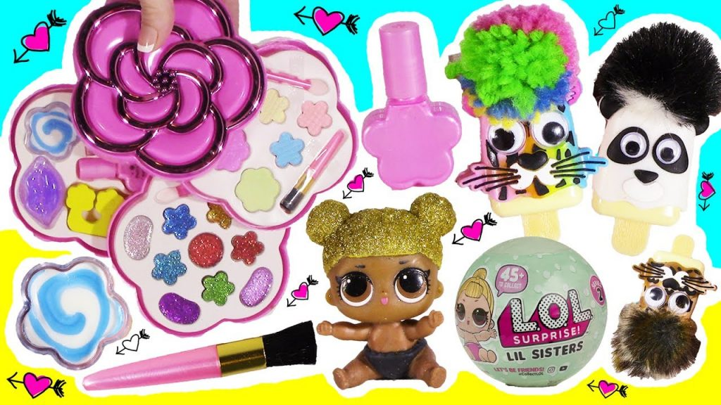 BubblePOP Beauty SPOT! Flower Makeup Kit! Nail Polish! EYESHADOW! Pet Lip GLOSS! LOL Surprise!