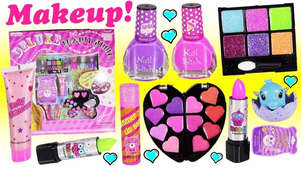 BubblePOP Beauty SPOT! Makeup! Color Change Lipstick! Body Shimmer! Nail Polish! Candy Face Mask!