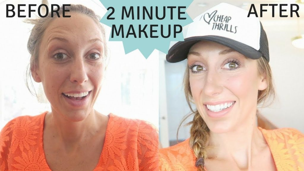 2 Minute Makeup!   Quick, easy, everyday face!
