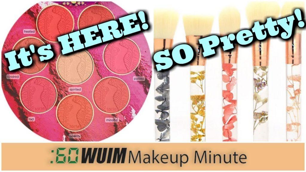 Tarte's Big Big Blush Book is HERE! + REAL FLOWER Makeup Brushes! OMG! | Makeup Minute