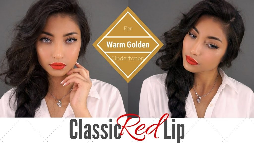 Classic Red Lip Makeup |  For Warm Golden Undertones | Shy Ranada