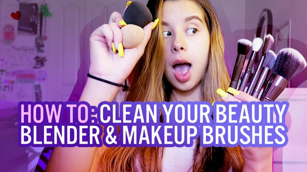 How To: Clean Your Beauty Blender & Makeup Brushes! | TheyLoveArii